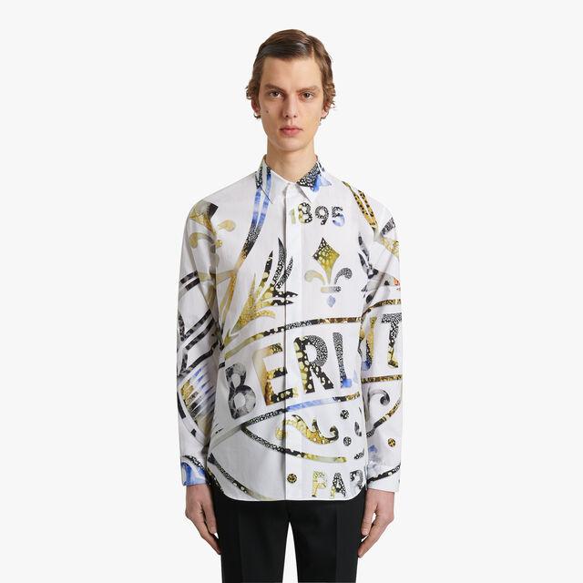 印花纹饰衬衫, BR 1 YELLOW, hi-res