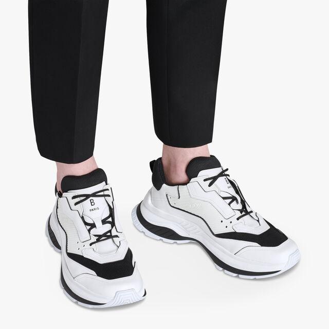 Gravity Calf Leather Sneaker, WHITE, hi-res