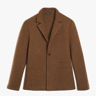 无衬里柔软羊绒 & 羊毛夹克, BROWN SUGAR, hi-res