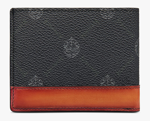 Excursion Canvas And Leather Wallet, BLACK + NESPOLA ORANGE, hi-res