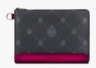 Nino Large Canvas and Leather Clutch