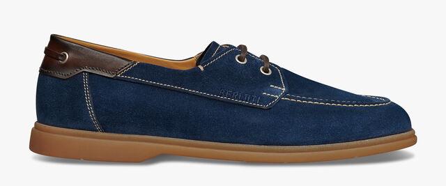 Latitude Leather Boat Shoe, NAVY, hi-res