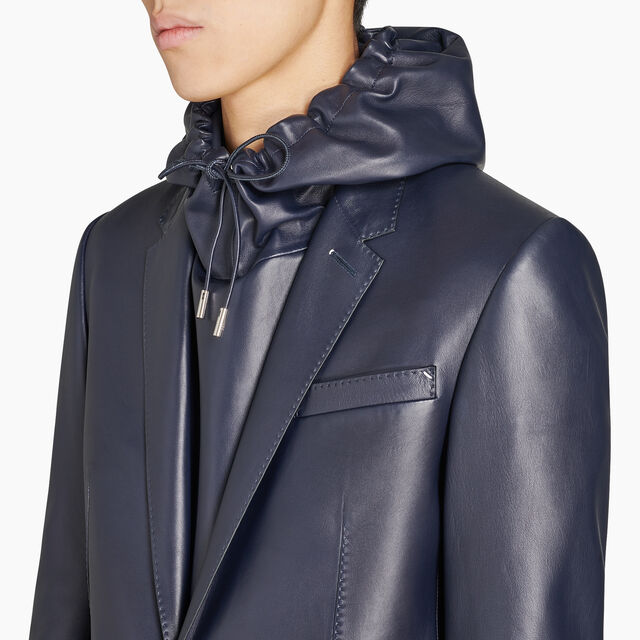 Lined Lamb Leather Jacket, CAOS NIGHT, hi-res