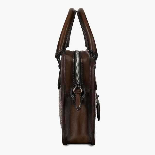 Un Jour Gulliver Leather Scritto Swipe Messenger Bag, TDM INTENSO, hi-res