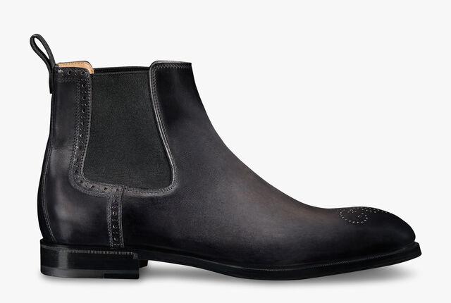 Classic Dune Leather Chelsea Boot, NERO GRIGIO, hi-res