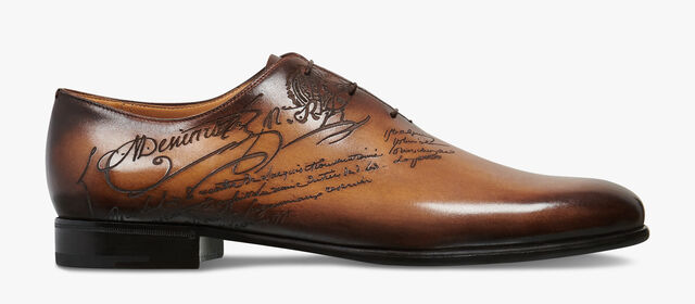 Alessandro Galet Scritto Leather Oxford, TOBACCO BIS, hi-res