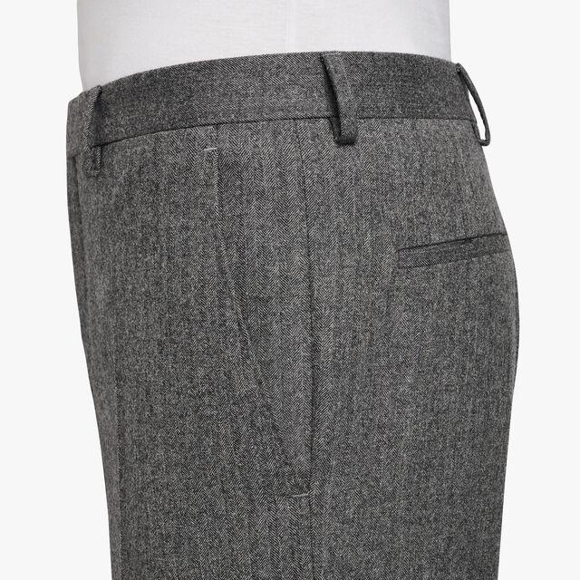 Slim-Fit Wool Formal Trousers, LEAD, hi-res