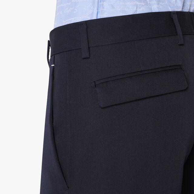 Slim-Fit Wool Gabardine Trousers