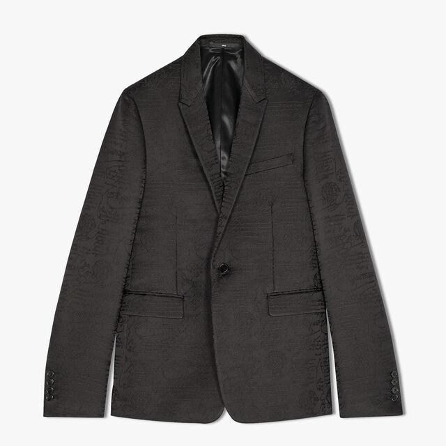 Alessandro Formal Scritto Cotton Tuxedo Jacket, NOIR, hi-res