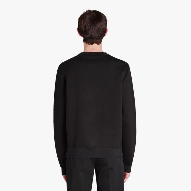 绣有LOGO的运动衫, NOIR/DARK LEAD, hi-res