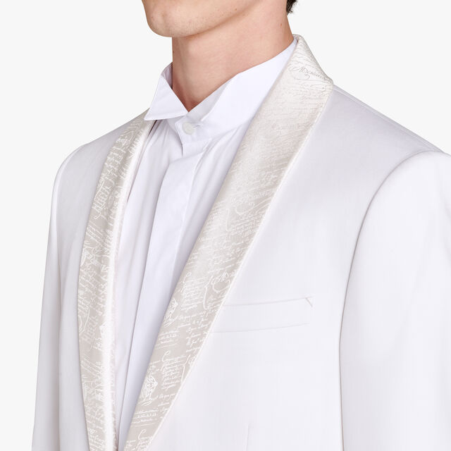 Wool Tuxedo Jacket With Scritto Collar, WHIPPED CREAM, hi-res