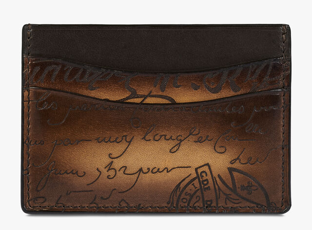 Bambou Scritto 皮革卡包, TOBACCO BIS, hi-res