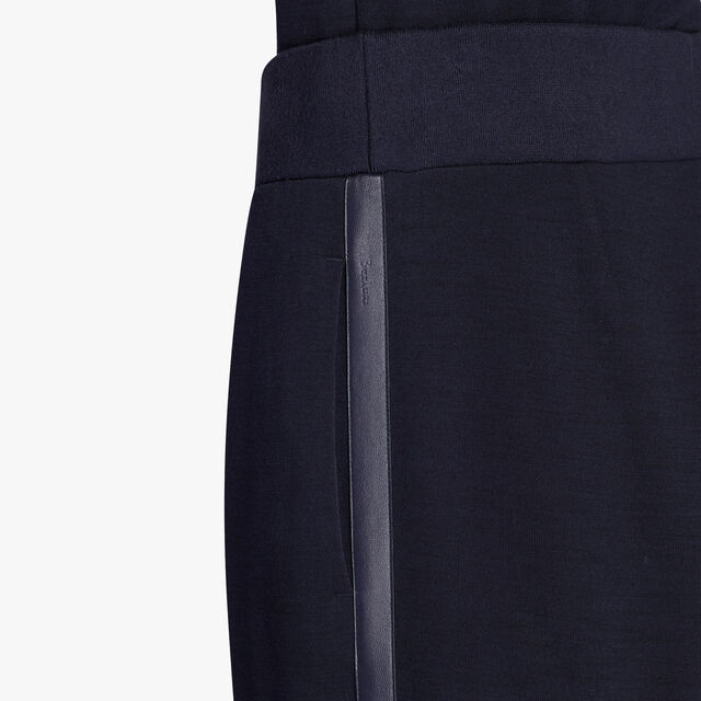 Jersey Tapered Jogpants With Leather Detail, DARK NIGHT, hi-res