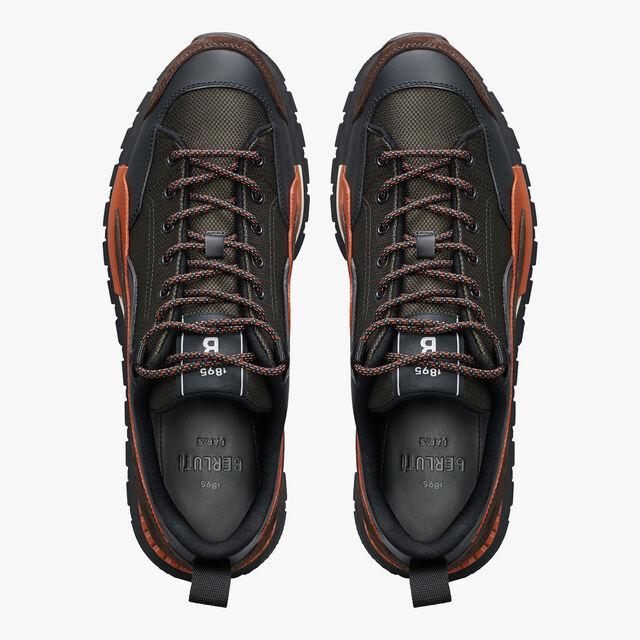 Fast Treck Scritto Leather and Nylon Sneaker, TERRACOTTA, hi-res