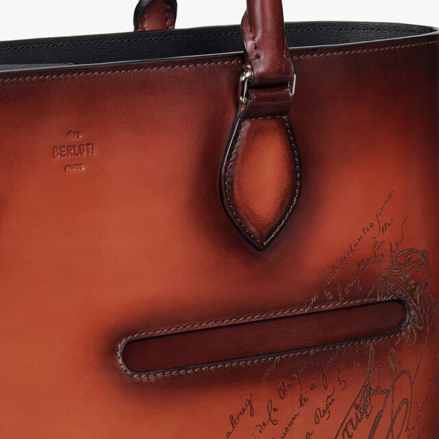 Toujours Small Leather Tote Bag, TERRACOTTA, hi-res