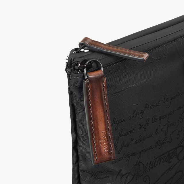 Esprit Medium Nylon Calf Leather Clutch, NERO, hi-res