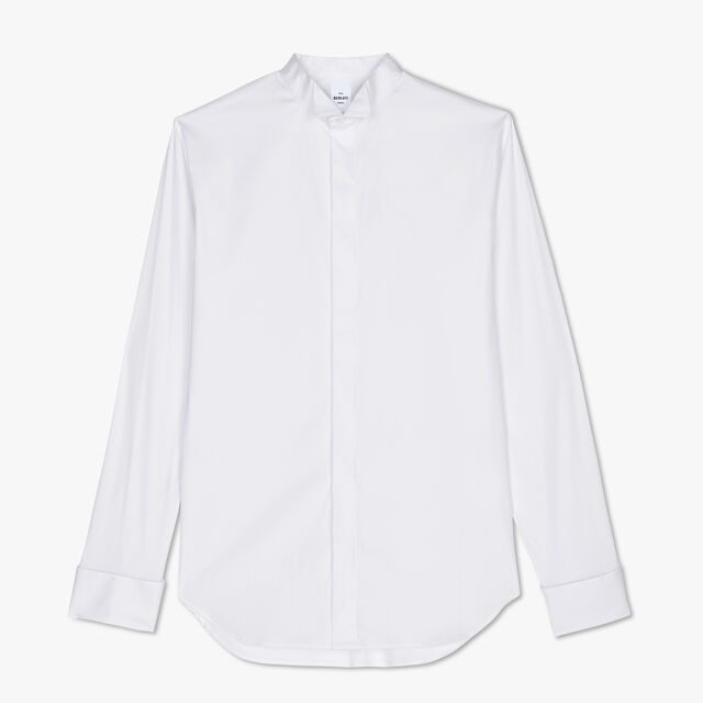 Cotton-Blend Shirt, BLANC OPTIQUE, hi-res