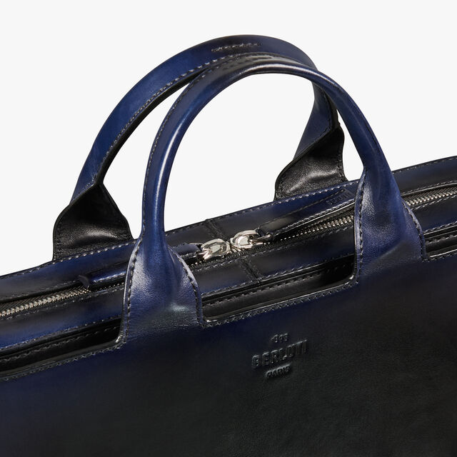 Profil 3 Mini Leather Briefcase, BLACK BLUE, hi-res