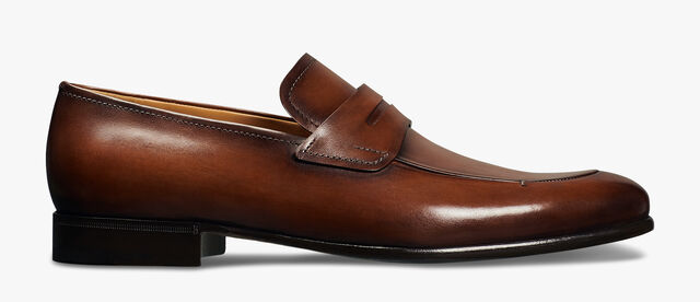 Gaspard Galet Calf Leather Loafer, MOGANO, hi-res