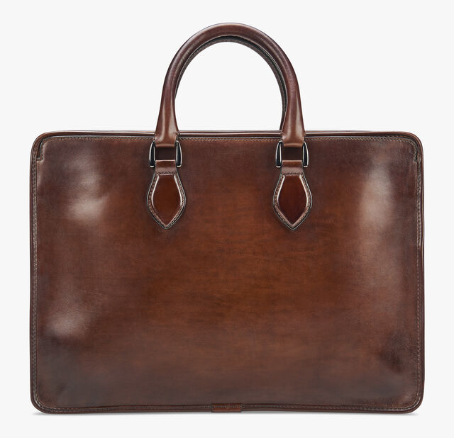 Un Jour Leather Briefcase, MOGANO, hi-res
