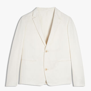 Unlined Supple Linen Jacket, MAGNOLIA, hi-res
