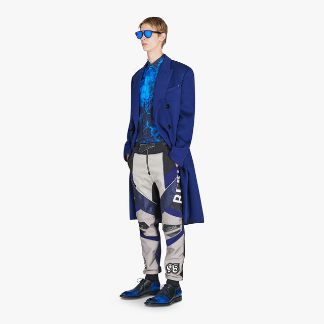양면 롱 포멀 캐시미어 코트 , BLUE FLASH, hi-res