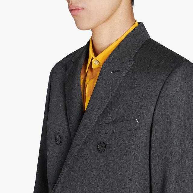 Formal Wool Lined Long Jacket, MYSTERIOUS GREY, hi-res