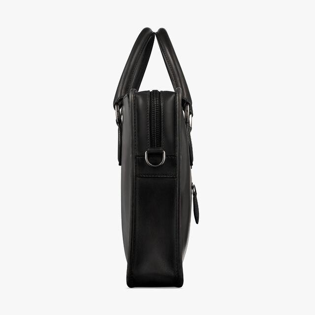 Un Jour Mini Leather Briefcase, NERO GRIGIO, hi-res