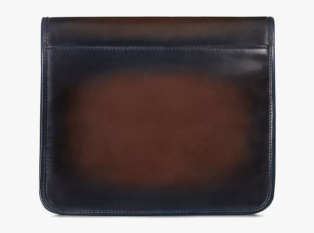 Luck-Day Nylon and Leather Scritto Messenger Bag, BURNT BLUE, hi-res