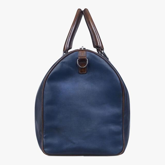 Jour Off Medium Leather Travel Bag, INDIGO DENIM, hi-res