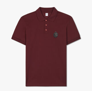 Cotton Polo-Shirt  With Crest Leather Patch