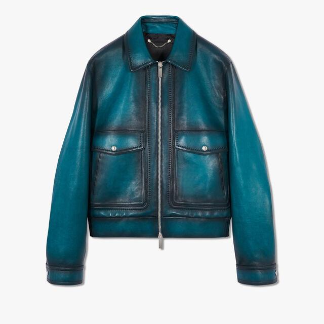 转色皮革外套, ALPINE GREEN, hi-res