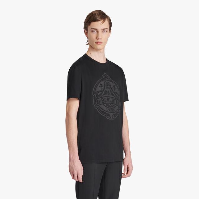 Cotton Crest T-shirt, NOIR, hi-res