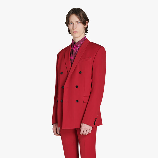 Formal Double Breasted Wool Jacket, VERMILLON, hi-res