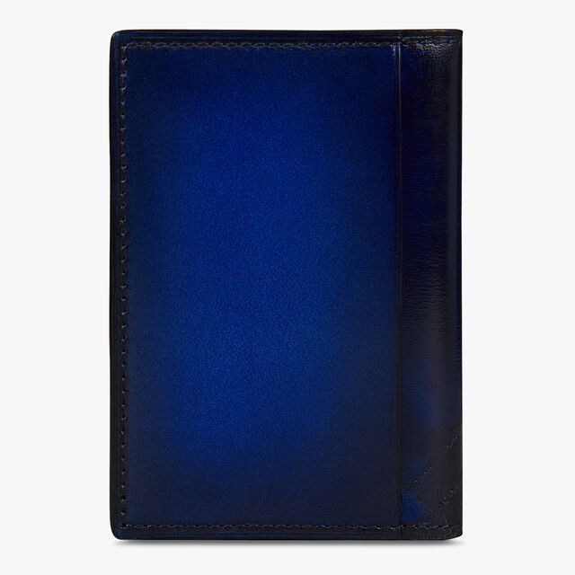 Jagua Scritto Swipe Leather Card Holder, UTOPIA BLUE, hi-res