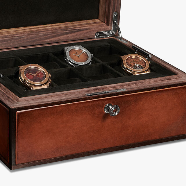Venezia Calf Leather Watch Box, MOGANO, hi-res