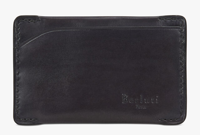 Easy Leather Card Holder, DEEP BLACK, hi-res