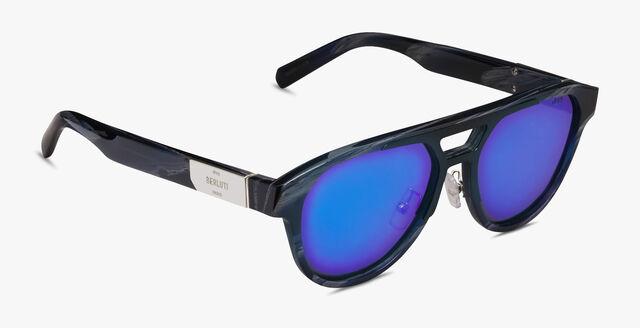 "Sparkle ""飞行员""醋酸纤维太阳眼镜, GREY HORN, hi-res"