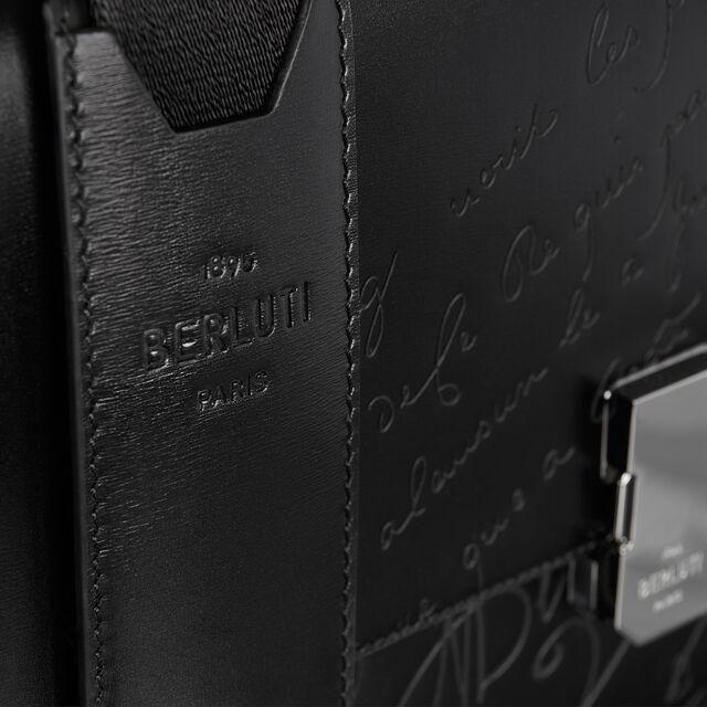 Prisme Small Scritto 皮革公文包, BLACK, hi-res