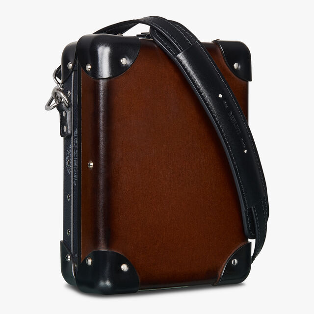 Globe-Trotter Mini Canvas And Leather Messenger Bag , BLACK+TDM INTENSO, hi-res