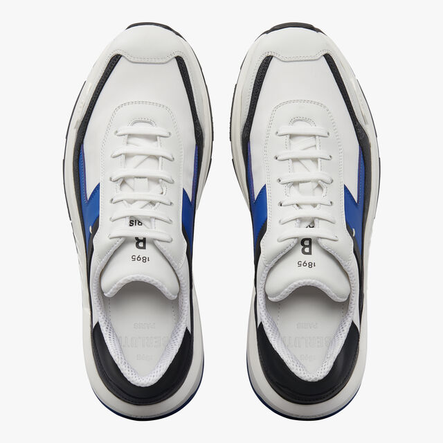 Sneaker Pulse En Toile et Cuir, BLACK + WHITE + BLUE, hi-res