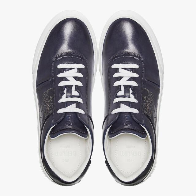 Playground Scritto 小牛皮运动鞋, METEORITE, hi-res