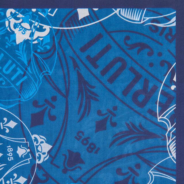 Printed Crest Handkerchief, SPACE BLUE, hi-res