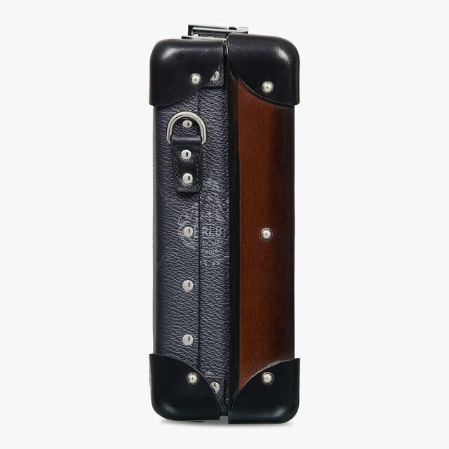 Globe-Trotter Mini Canvas And Leather Messenger Bag , BLACK + TDM INTENSO, hi-res
