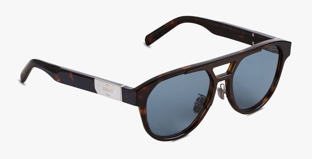 Sparkle Aviator Shape Acetate Sunglasses, DARK HAVANA, hi-res