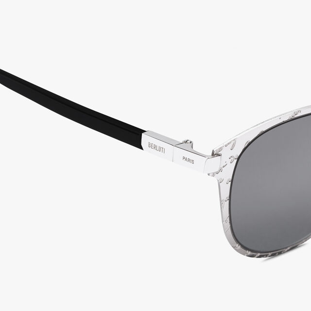 Starbust Scritto Metal Sunglasses, SILVER+SOLID SMOKE, hi-res