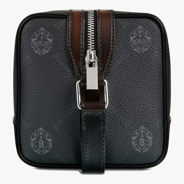 Aventure Gulliver Canvas And Leather Messenger, BLACK+TDM INTENSO, hi-res