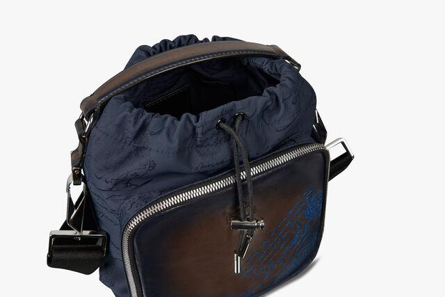 Hike On Mini Nylon and Leather Scritto Messenger Bag, BURNT BLUE, hi-res