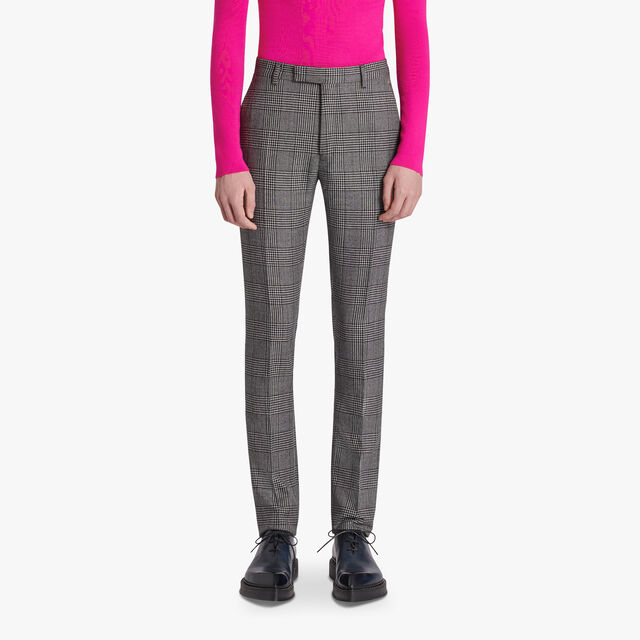 Pantalon Coupe Regular Prince De Galles, BLACK CHECK, hi-res