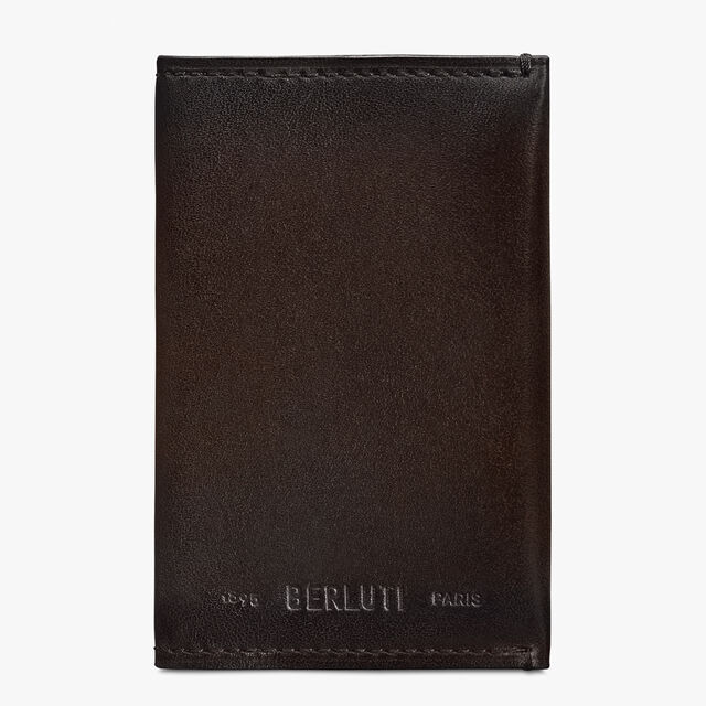 Idéal Mini Scritto Leather Card Holder, ICE BLACK, hi-res